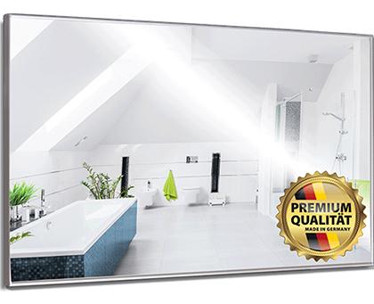 infrarotheizung spiegel mit alurahmen von heizprinz. Black Bedroom Furniture Sets. Home Design Ideas