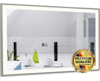 infrarot spiegelheizung mit led beleuchtung und alurahmen. Black Bedroom Furniture Sets. Home Design Ideas
